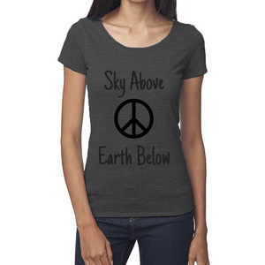 rPet & Organic Cotton Scoop Neck Tee | Peace-Eco Conscious Clothing