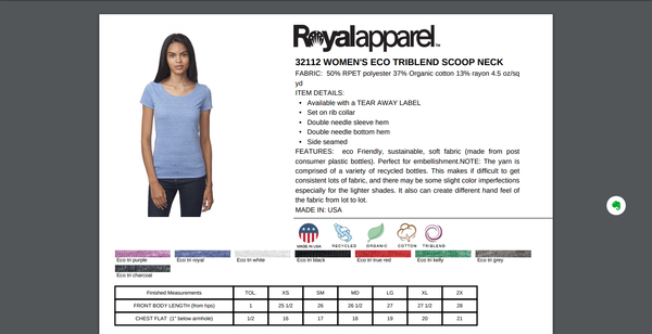rPet & Organic Cotton Scoop Neck Tee | Third Eye-Eco Conscious Clothing