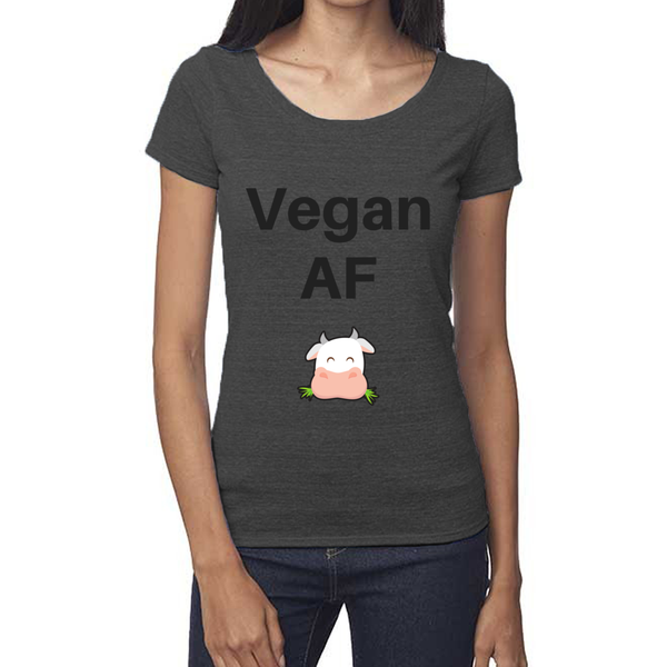 rPet & Organic Cotton Scoop Neck Tee | Vegan AF-Eco Conscious Clothing