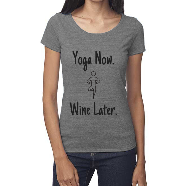 rPet & Organic Cotton Scoop Neck Tee | Yoga Now-Eco Conscious Clothing