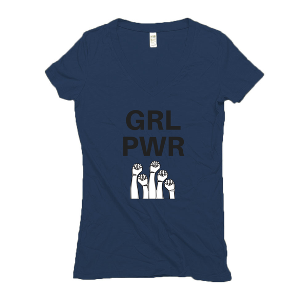 Women's V Neck T Shirts - Hemp | GRL PWR-Eco Conscious Clothing