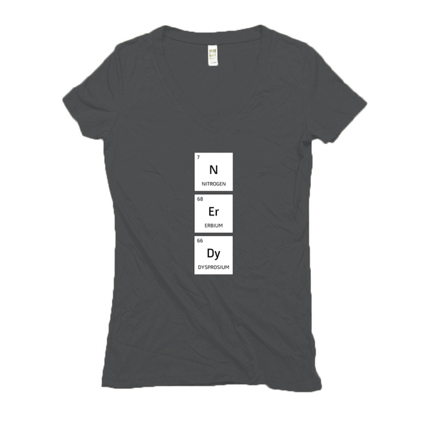 Women's V Neck T Shirts - Hemp | Nerdy-Eco Conscious Clothing