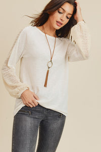Kate Knit Sleeve top