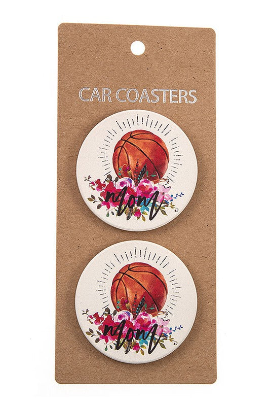 Basketball Mom Car Coasters