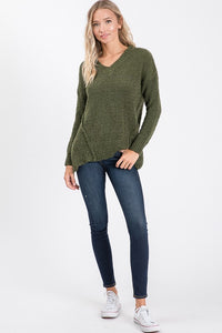 Ashley Asymmetrical Hem Sweater