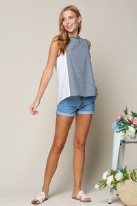 Stacy Chambray Striped Top