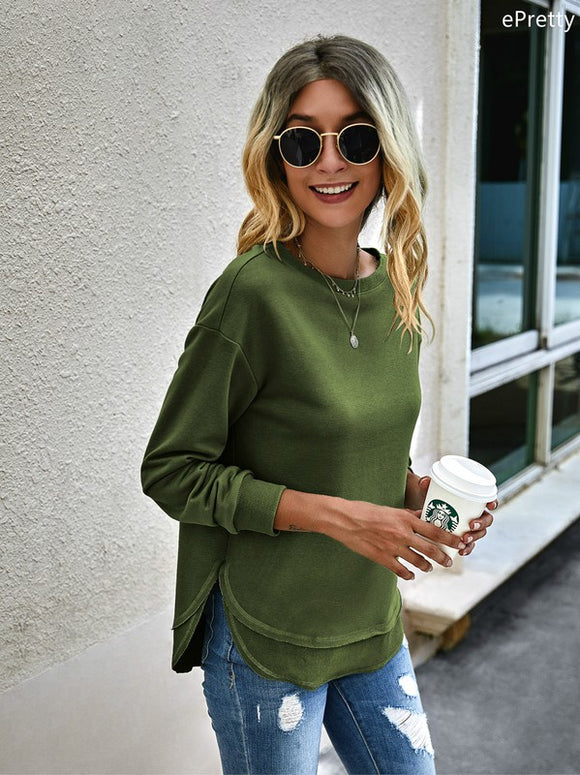 Olive Knit Pullover