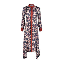 Load image into Gallery viewer, Navy  Midi Dress Ettie with Floral Print