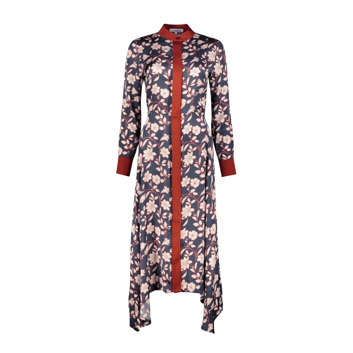 Navy  Midi Dress Ettie with Floral Print
