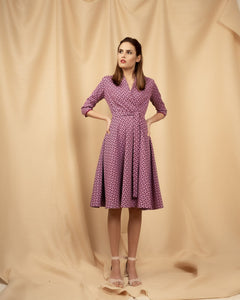 Midi Purple Doreen Dress