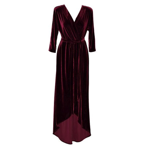 Bordeaux Velvet Felicia Dress