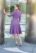 Load image into Gallery viewer, Midi Purple Doreen Dress