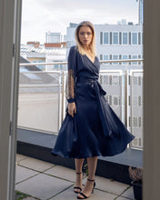 Load image into Gallery viewer, Navy Midi Dress Issy