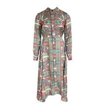 Load image into Gallery viewer, Long Sleeve Paisley Print Summer Dress