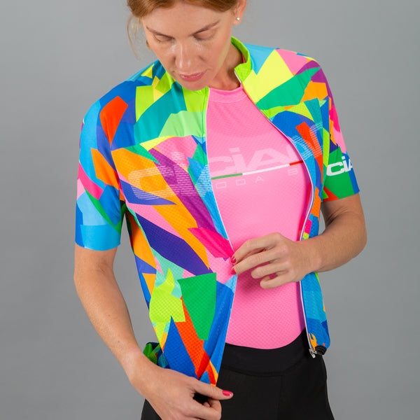 Colors Mosaic Unisex Cycling Jersey
