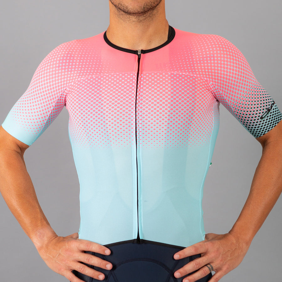 Colors Salmon Sky Unisex Cycling Jersey