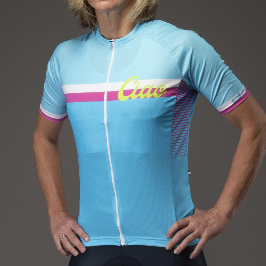 Classic Unisex Cycling Jersey Light blue