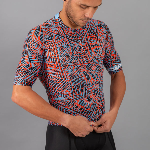 Graffiti Aztec Super Pro Cycling Jersey