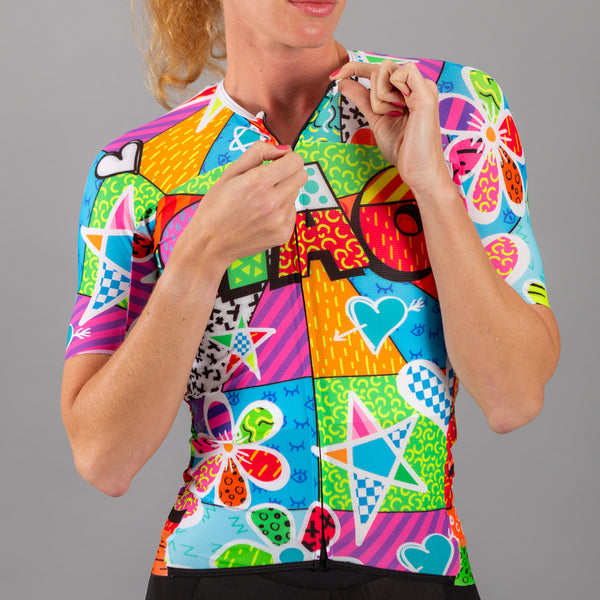 Graffiti Toon Unisex Cycling Jersey