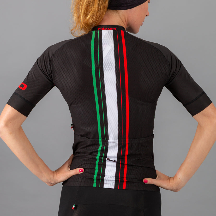 Classic Flag Black Unisex Cycling Jersey
