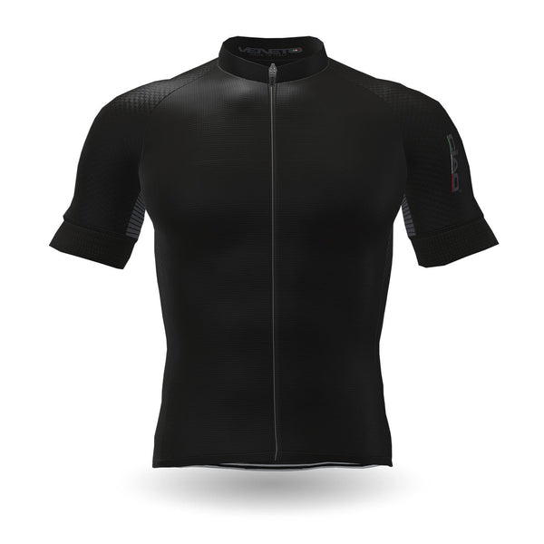 Feather Unisex Cycling Jersey Black