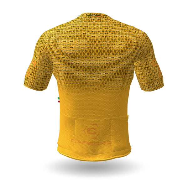 Carbonio Unisex Cycling Jersey Yellow Army