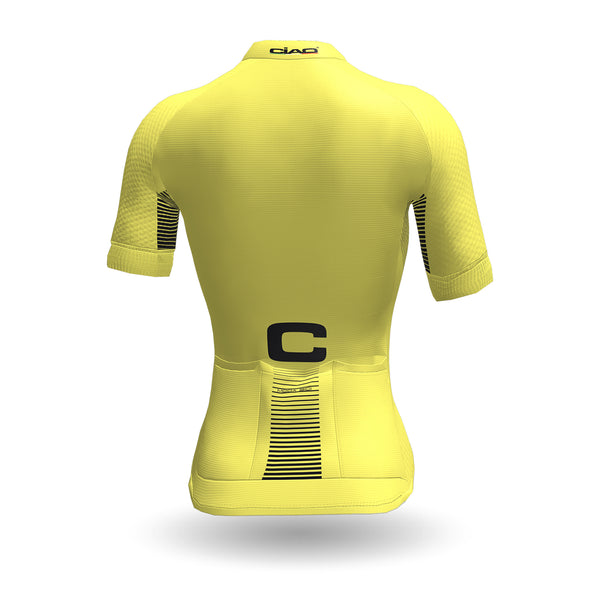 Feather Unisex Cycling Jersey Yellow