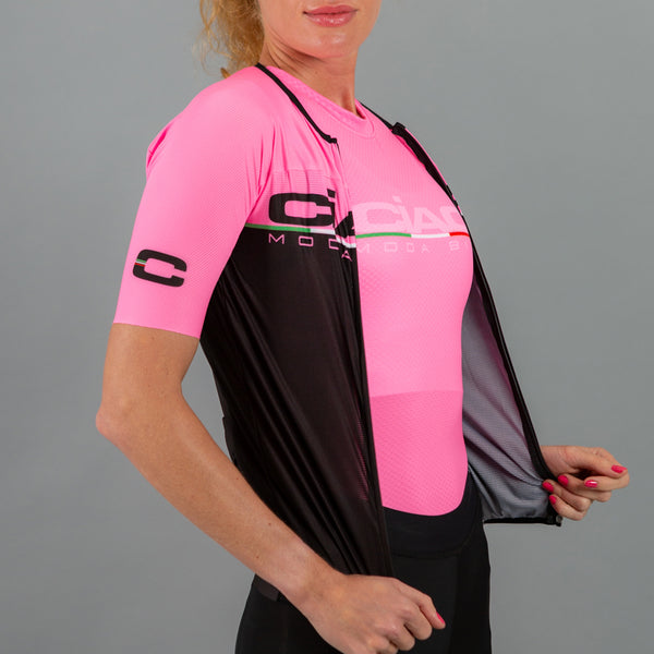 Scritta Pink Black Unisex Cycling Jersey