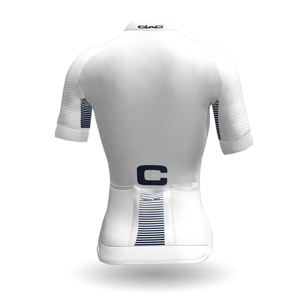 Feather Unisex Cycling Jersey White