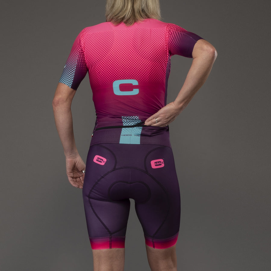 Colours Pink Fluo Violet Women's Triathlon Body