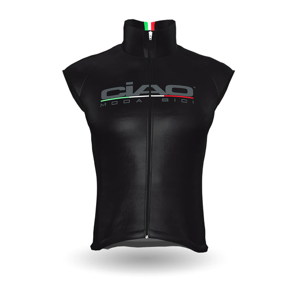 Wind Jacket Cycling (Net on back ) Black