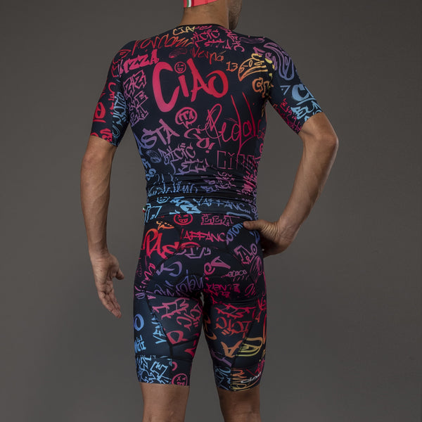 Graffiti Blue Rainbow Men's Triathlon Body