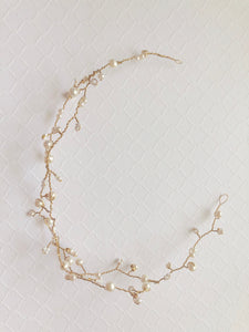 Gold and Pearl Hair Vine