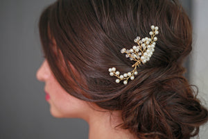 Pearl and Crystal Hair Comb