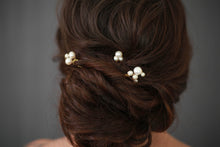 Load image into Gallery viewer, Fresh Water Pearl Hair Pins (Set of 3)