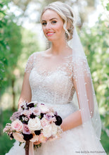 Load image into Gallery viewer, Pearl Studded Chapel Veil