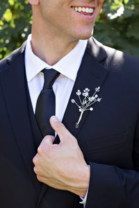 Crystal and Pearl Boutonniere