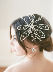 Crystal Flower Hair Wrap