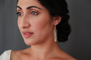 Antiqued Gold and Crystal earrings