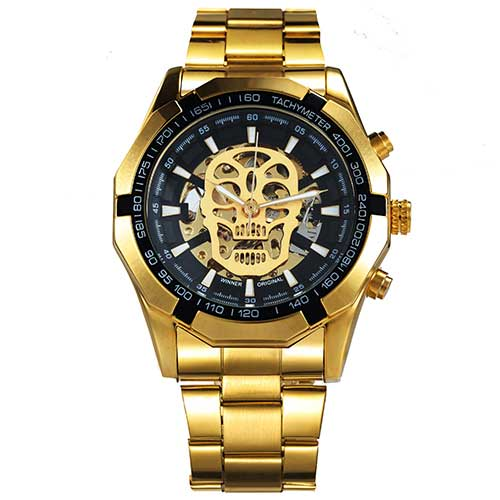 Skull Golden Automatic Watch - Better.Plus