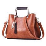 Luxury  Women Leather Tassel Tote - Better.Plus