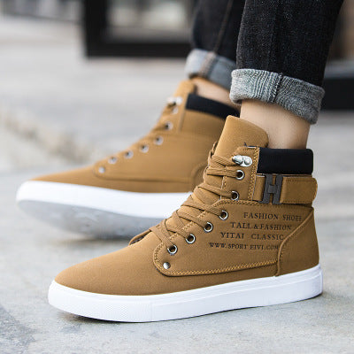 Men's casual breathable comfortable high-top shoes
