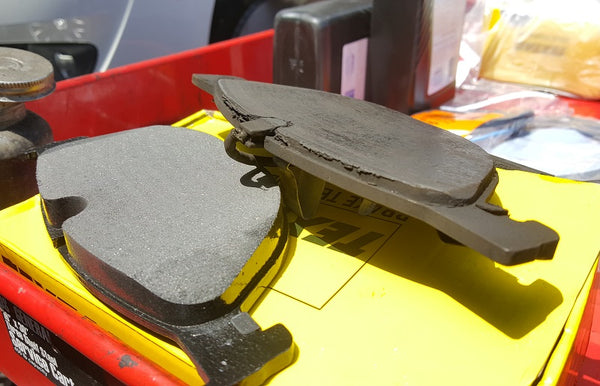 Car brake pad new and used