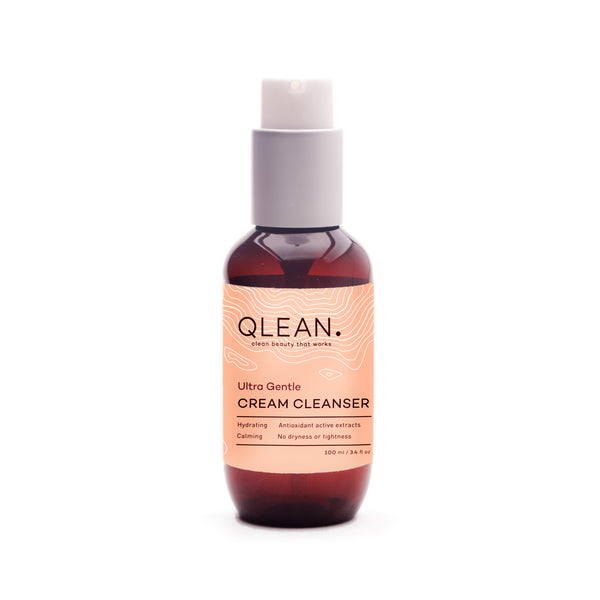 Ultra Gentle Cream Cleanser 15ml / 100ml Face QLEAN