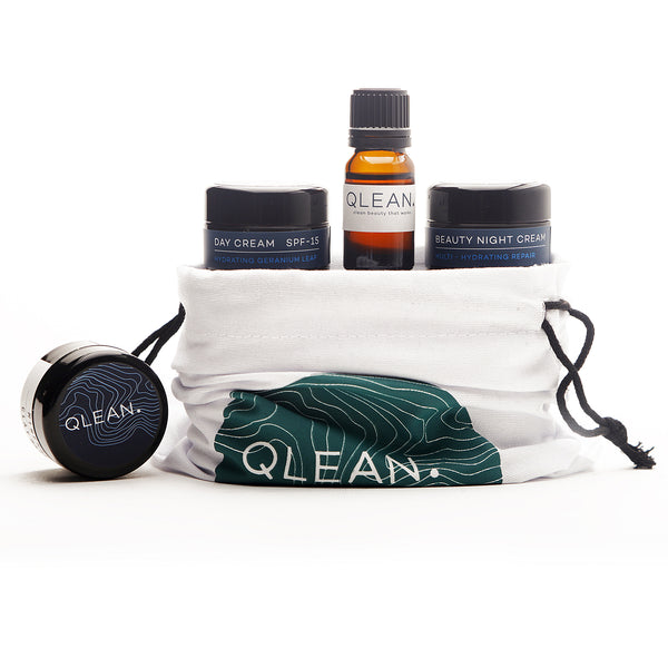 QLEAN Face Range Travel Pack Samples QLEAN