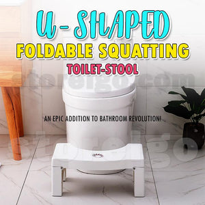 U-Shaped Foldable Squatting Toilet-Stool
