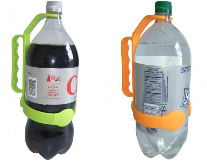 Universal Bottle Handle Adds Handle To 1 and 2 Liter Bottles