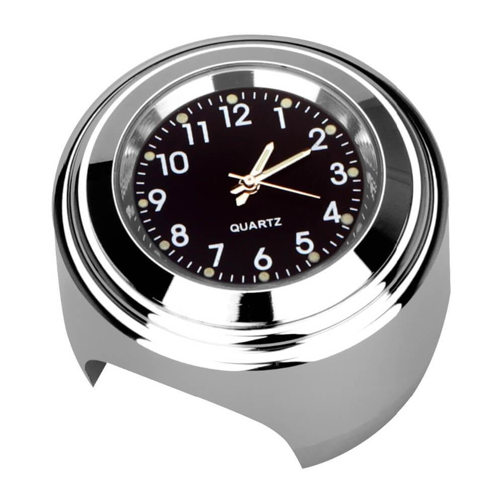 1pcs Car Auto Motorcycle Handlebar Mount Quartz Clock Waterproof Chrome Watch