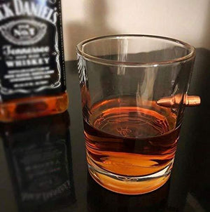 Lucky Shot .308 Real Bullet Handmade Whiskey Glass