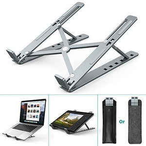 Foldable Portable 6-Height Adjustable Aluminum Ventilated Laptop Stand Holder